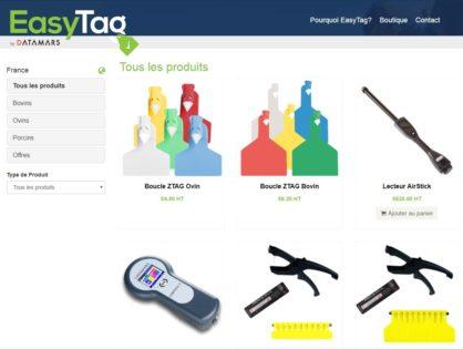 Un site marchand pour commander du matériel d'identification