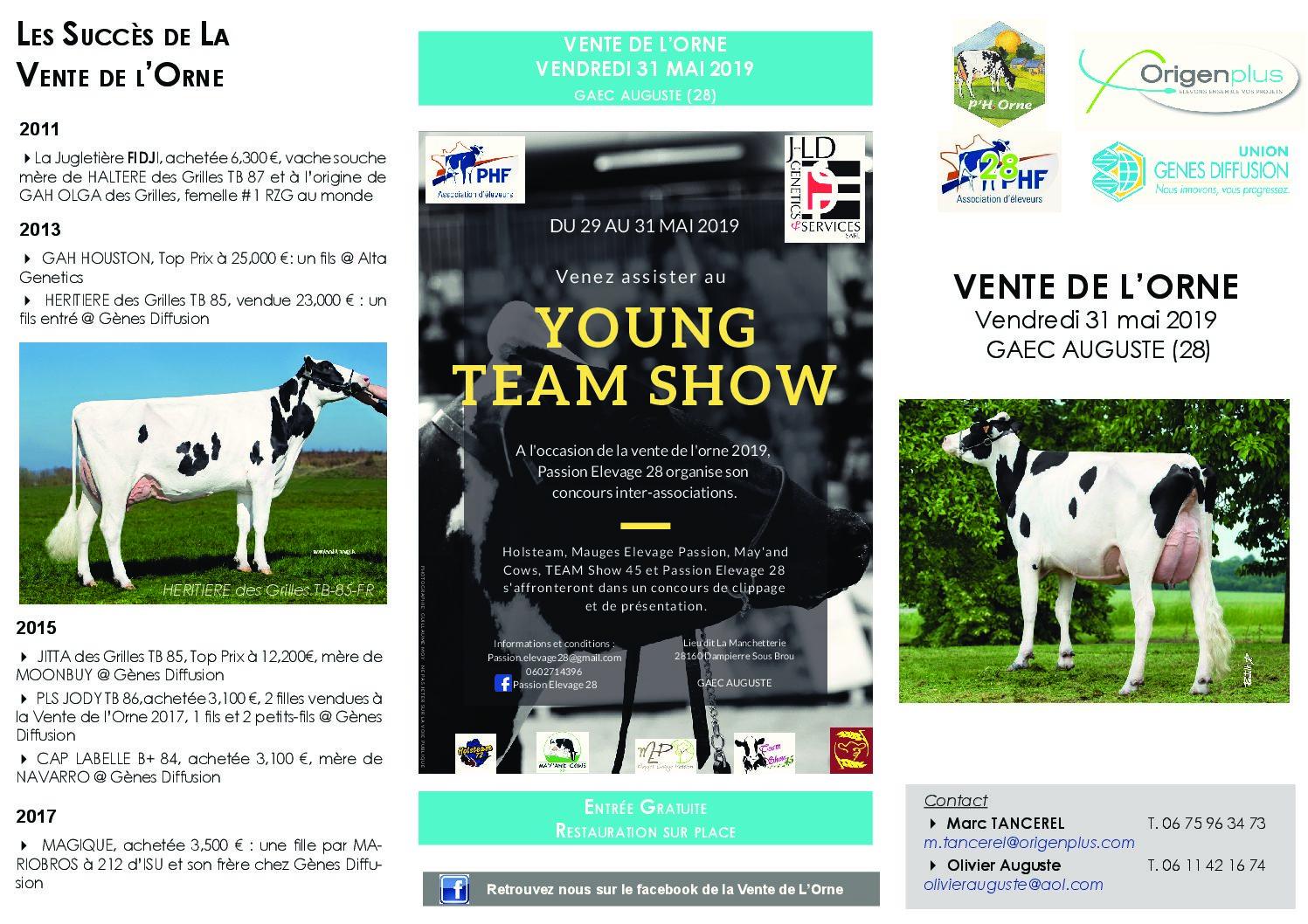 Vente de génisses Holsteins dans l'Eure-et-Loir
