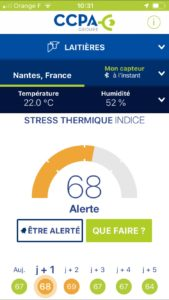 Quand le Smartphone alerte du stress thermique