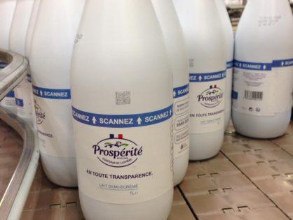 Le lait met un pied dans la blockchain